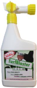 TurfBlaster Liquid Fertilizer, for a greener lawn!