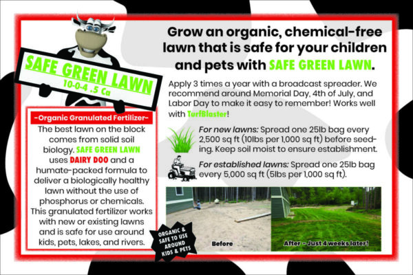 SAFE GREEN LAWN SIGN